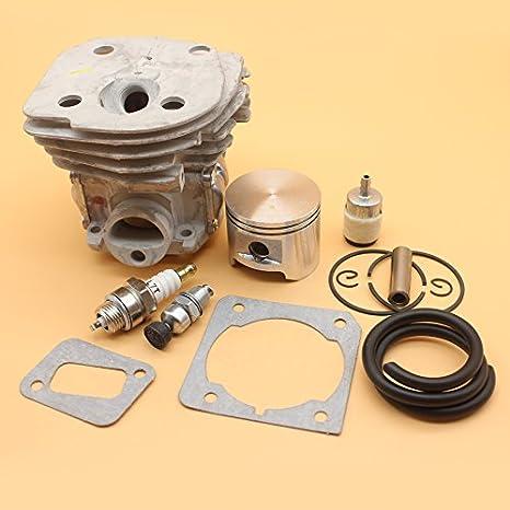 45 Mm Motor Motor Zylinder Kolben Replica Dekompressionsventil Fuel Line Kit Für Husqvarna 353 350 351 346 345 340 Chainsaw Teile Baumarkt