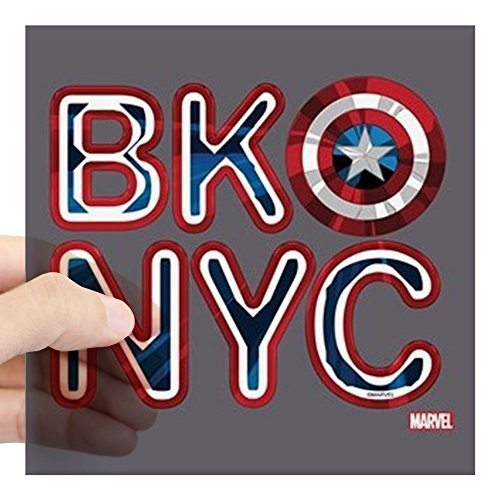 CafePress Captain America BKNYC Square Sticker 3 X 3 Square Bumper Sticker Car Decal, 3