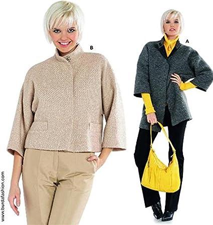 Burda sewing pattern 7621 modern jackets - Size 8-20