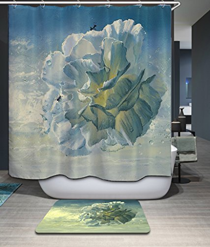 [Monadicase Flower Ant Polyester Bathroom Curtains Width X Height / 72 X 72 Inches / W H 180 By 180 Cm For Kids Boys,bf,mother,custom,couples. With Hooks. Fabric] (Homme Costume National)