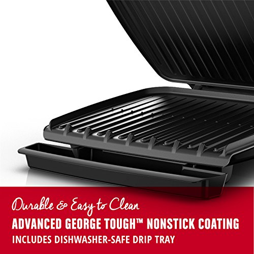 George Foreman 8-Serving Classic Plate Grill and Panini Press, Black, GR380FB by George Foreman (Image #1)