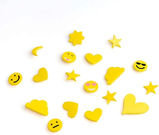 Black Velvet Studio Pack SimbolosTablero Fieltro Intercambiables Emojis - Alfabeto Plastico Retro Color Amarillo: Amazon.es: Hogar