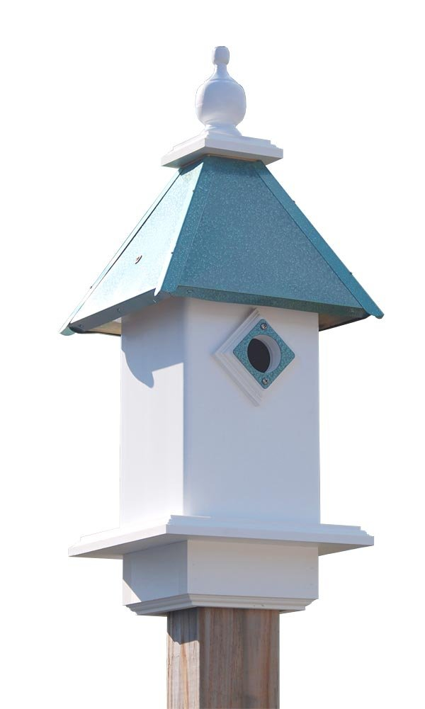 Wing & A Prayer Classic Bluebird House, Verdigris Roof