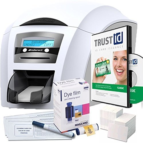 Magicard Enduro3e Dual Sided ID Card Printer & Supplies Package -Official Bundle ()