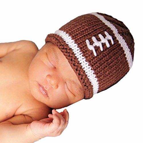 (Huggalugs Baby Football Newborn Boys or Girls Hospital Hat Gender Neutral Brown)