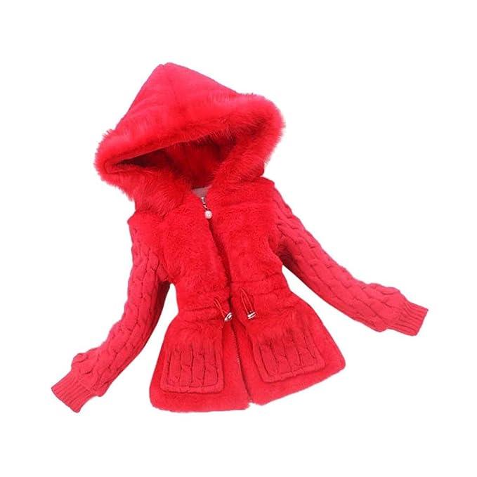 0d1304df Abrigo para bebé niña en punto y pelo ,Yannerr niños chico caliente Otoño  invierno manga