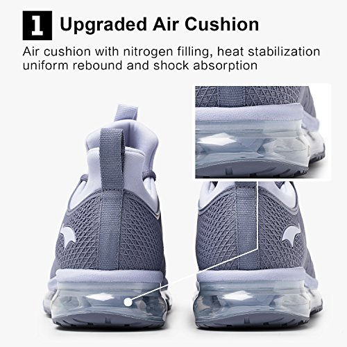 Cushion Running Shoes Lightweight Outdoor ONEMIX Silver Grey Sneakers Men's Air Breathable g5q154R