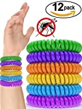 12 Pack Mosquito Repellent Bracelet Band - [320Hrs of Protection] Pest Control Insect Bug Repeller - Natural Indoor / Outdoor Insects - Best Products with NO Spray for Men, Women, Kids, Children