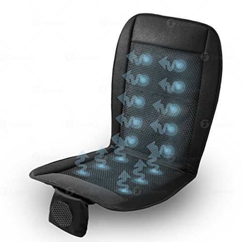 Cooling Car Seat Cushion 12V - Zone Tech Automotive Premium Quality Adjustable Temperature Ultra Comfortable Breathable