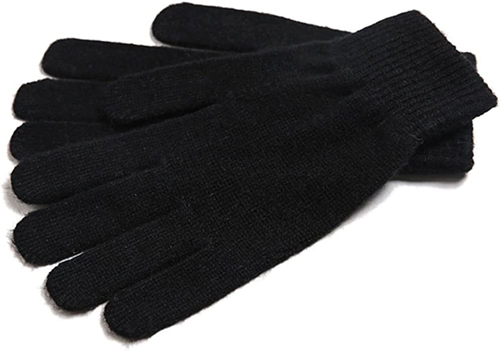 Warm Wool Mongolia Pure Cashmere Women Signature Gloves Mittens