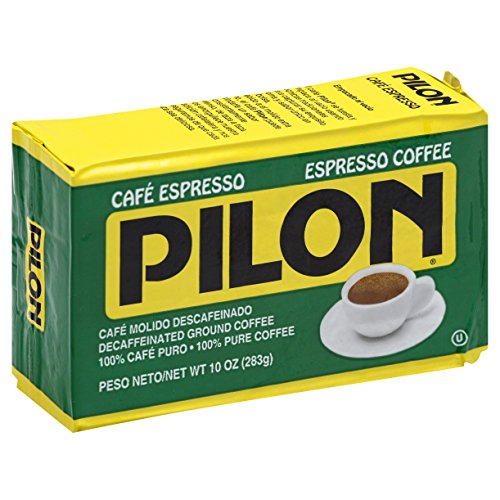 Pilon Decaffeinated Espresso Coffee, 10 Ounce (Pack of 12) Ground Decaffeinated Coffee