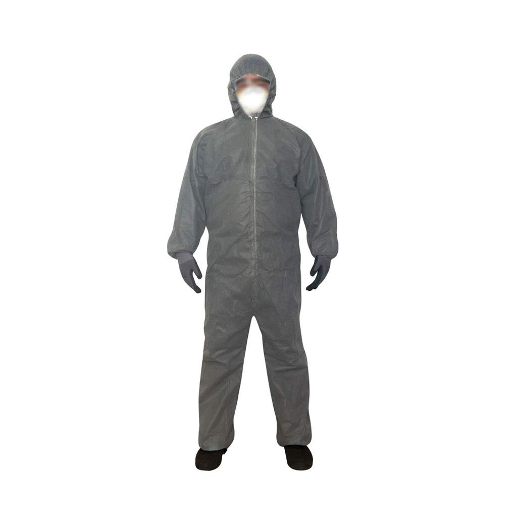 YYTL Disposable Coveralls, Dust-Proof and Breathable One-Piece Hooded Overalls, Used for Painting Maintenance Work, Suitable for Men-3 Pieces (Size : M) by YYTL