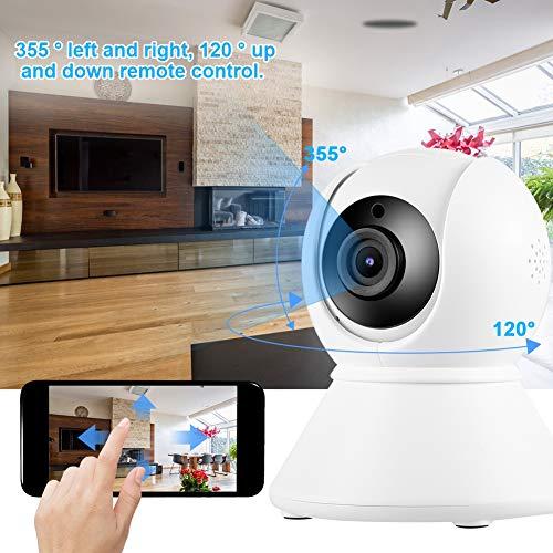 Rotating Dome Camera HD 1080P WiFi Security Camera ONVIF Motion Detection for Alexa tuya Support 64GB TF Card, Two-Way Audio, Surveillance Camera 110-240V(US Plug)