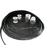 Orish 3D Printer Prusa I3 GT2 Belt 20T Timing Pulley and Motor Shaft Coupler Movement Kit for Reprap