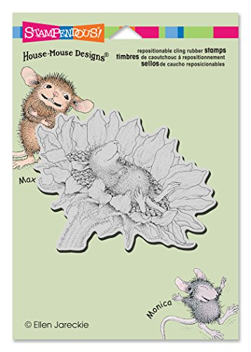 Stampendous HMCP42 Sunflower Smile House Mouse Cling Stamp, 4.5