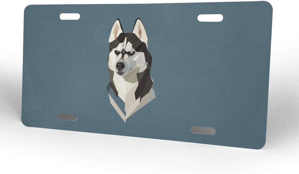 Cool Dog Funny Head Customized USA Car Tag Front License Plate 6 X 12 Aluminum License Plate Miniisoul Wall Decoration License Plate Personalized