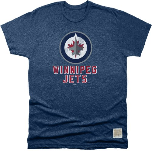 Original Retro Brand NHL Winnipeg Jets Men's Mock Twist Tee, Small, Navy