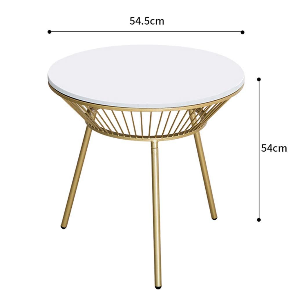 SJY Fer Art Table Basse Patio extérieur Table Ronde Balcon marbre ...