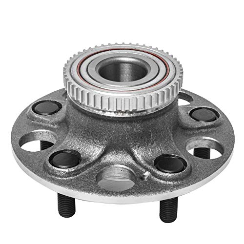 TUCAREST 512259 Rear Wheel Bearing and Hub Assembly Compatible 04-05 Honda Civic (Si Models Only 4-Wheel ABS) 2002-2006 Acura RSX [5 Lug W/ABS]
