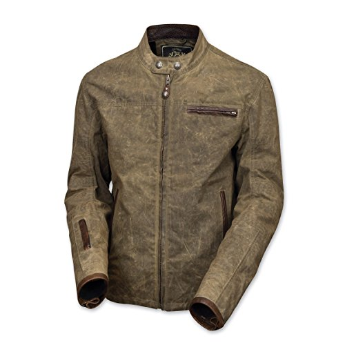 Waxed Cotton Motorcycle Jacket - 8
