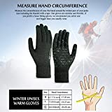 TRENDOUX Winter Gloves for Men, Knit Glove for