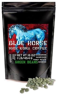 Farm-direct: 100% Kona Coffee, Green (Unroasted!) Beans, 1 Lb from Blue Horse Kona Coffee