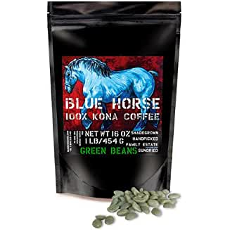 Blue Horse 100% Kona Coffee, Green (Unroasted!) Beans