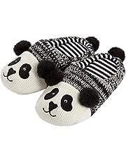 Yvonnelee Familie set pantoffels panda schattig antislip knuffelig winter, panda meisjes heren kind
