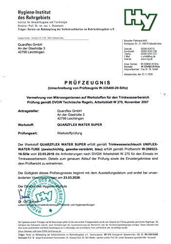 """Quarzflex® Trinkwasserschlauch 13 mm (1/2""""), 10 m Rolle KTW/DVGW""""SUPER FLEXIBEL"""""""