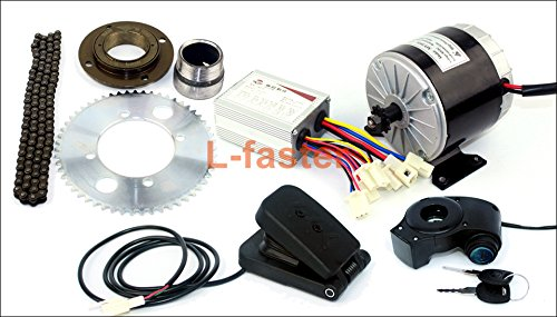24v36v 350ワットモーターキット電動gokartエンジンシステムでガスペダル電気子バイク変換キットdiy電動4-wheelsカート [並行輸入品] B07BVNG8VC24V pedal kit
