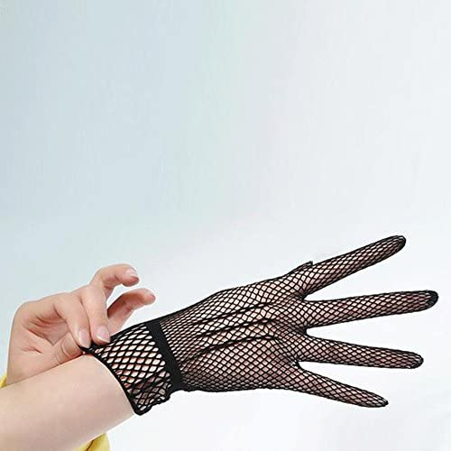 Women/'s Wrist Wedding Driving Bow Lace Gloves Bridal Party Prom Fishnet Gloves