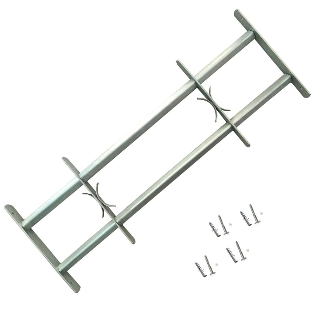vidaXL Reja de seguridad ajustable dos travesañ os para ventanas, 700-1050 mm