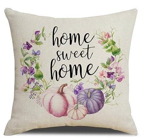 Se556th Home Sweet Home - Funda de Almohada de otoño, diseño ...