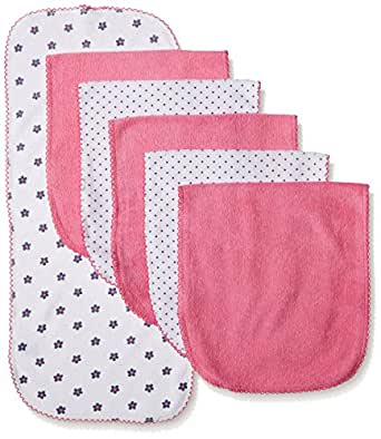 Gerber Baby Girls' 6 Pack Terry Burp Cloth