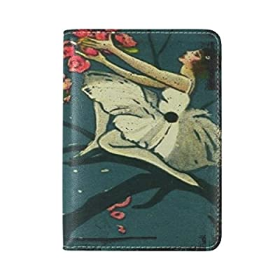 free shipping Fairy Girl Leather USA Passport Holder Cover Travel Wallet Case Protector