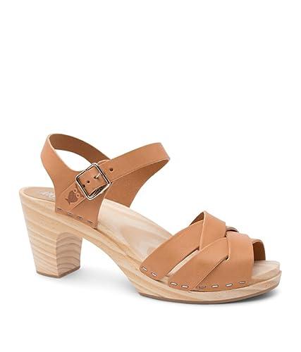 55970e248f0 Sandgrens Swedish High Rise Wooden Heel Clog Sandals for Women