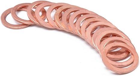 Amazon.com: Ochoos 15pcs New Copper Crush Washers Gasket HEL Motorcycle Bike Car Brake Line Banjo Bolt Brass Crush Washer M10 Flat Seal Ring: Home Improvement