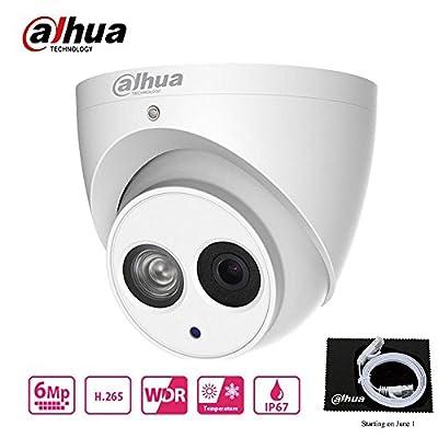 Dahua 6MP HD Security Camera, Mini Dome POE IP Camera IPC-HDW4631C-A,Fixed Lens 2.8mm,IP67,IR 30m Day and Night, H.265 Dome Camera?ONVIF, International Version from Dahua