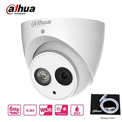 Dahua 6MP HD Security Camera, Mini Dome POE IP Camera IPC-HDW4631C-A,Fixed Lens 2.8mm,IP67,IR 30m Day and Night, H.265 Dome Camera,ONVIF, International Version by Global Camera