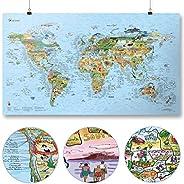 Awesome Maps World Fun Mapas-Scratch Edition, 1