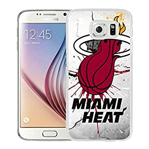 Fashionable Antiskid Cover Case For Samsung Galaxy S6 With Miami Heat 1 White Phone Case