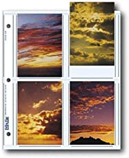 """Print File Archival Photo Pages Holds Eight 3.5"""" x 5"""" Prints, Pack of 25"""