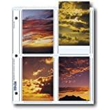 """Archival Photo Pages Holds Eight 3.5"""" x 5"""" Prints, Pack of 25"""