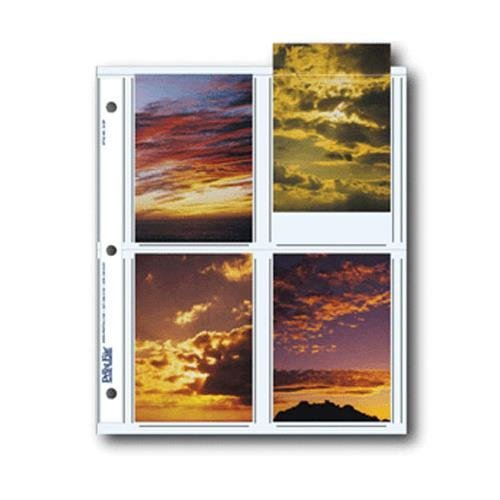 "Archival Photo Pages Holds Eight 3.5"" x 5"" Prints, Two Packs of 25 (50 Total) from Print File"