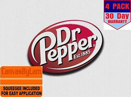 dr Pepper Logo 4 Stickers 4x4 Inches Car Bumper Window Sticker Decal