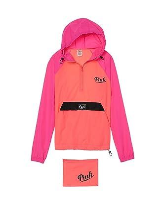 Victoria's Secret Pink Packable Anorak Windbreaker Jacket Half Zip ...