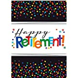 """Fun-Filled Retirement Party """"Happy Retirement"""" Rectangulat Plastic Table Cover Tableware, 54"""" x 102"""""""