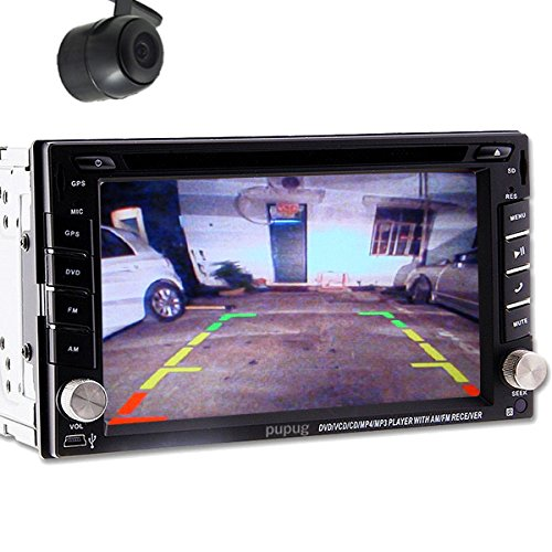 Cš¢mara trasera MAPA coche GPS Sat Navegaciš®n radio digital con pantalla tš¢ctil de TV de Coche Bluetooth estšŠreo de DVD Reproductor de CD 2 DIN en el ...