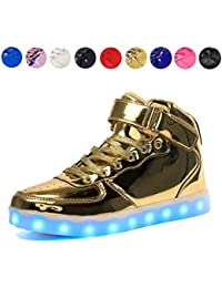 Kids LED Light Up Shoes USB Charging Flashing High-Top...