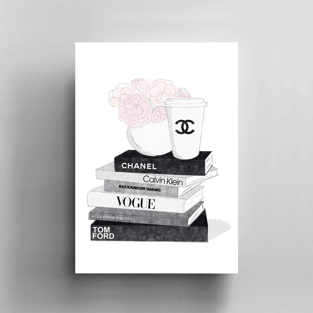 Coco Chanel, Canvas/Print Wall Art, Gallery Wrapped, Interior Decoration, Modern Art - 'Cool Story'.